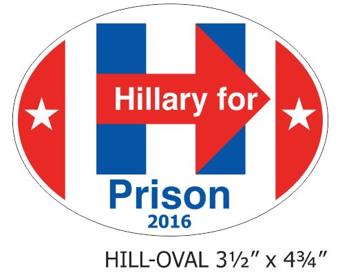 Hillary for Prison - Oval Decal