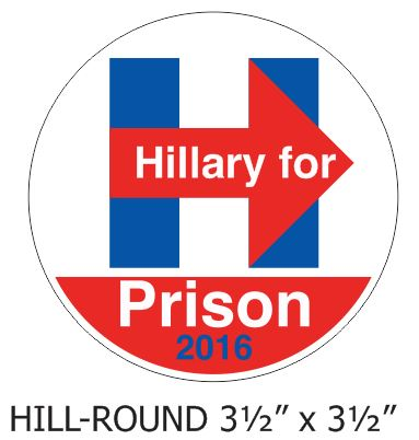Hillary for Prison - Round Decal