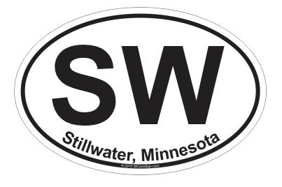 Oval Stillwater, MN Decal